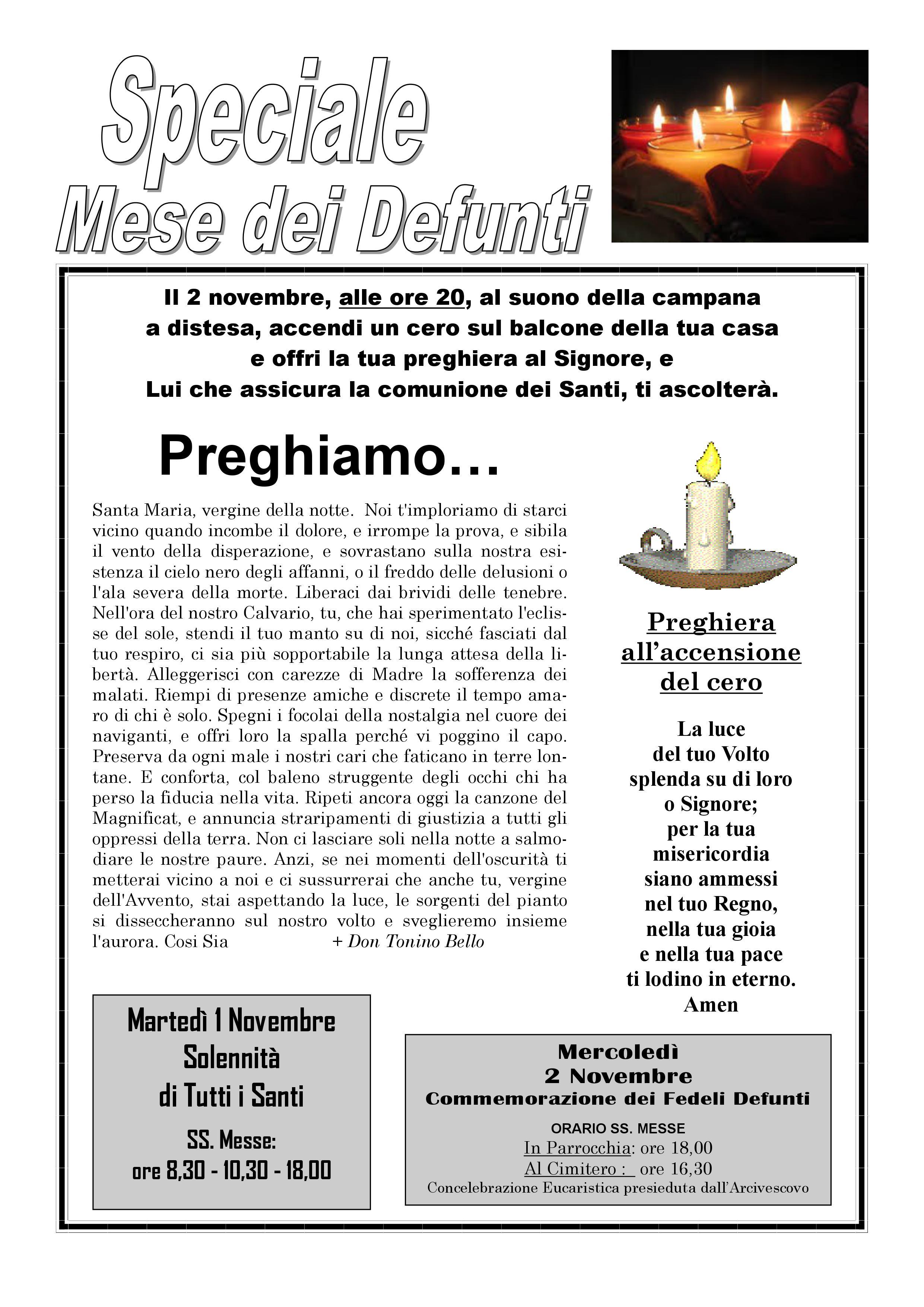 Conosciuto Il mese di novembre per i defunti: preghiera e carità Parrocchia  OI19